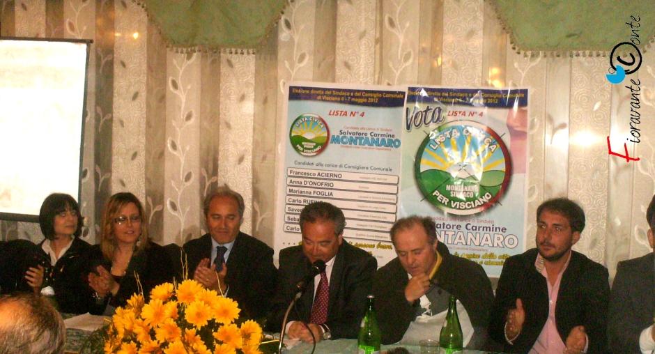 Carmine Montanaro, Visciano, elezioni