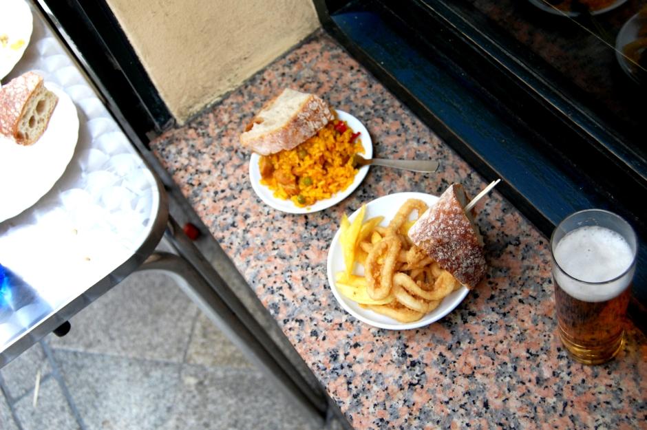 Calamares fritos de La Bombilla