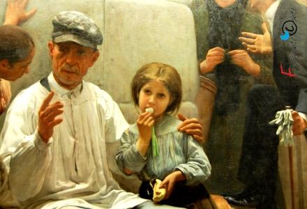 O consello dun pai, Placido Francés y Pascual, Museo de las Belas Artes, La Coruna