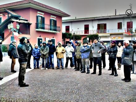 Franco Barbato Sit in No Discariche a Tufino
