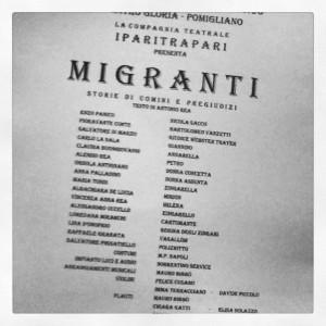 IParitrapari presentano Migranti, Pomigliano D'Arco