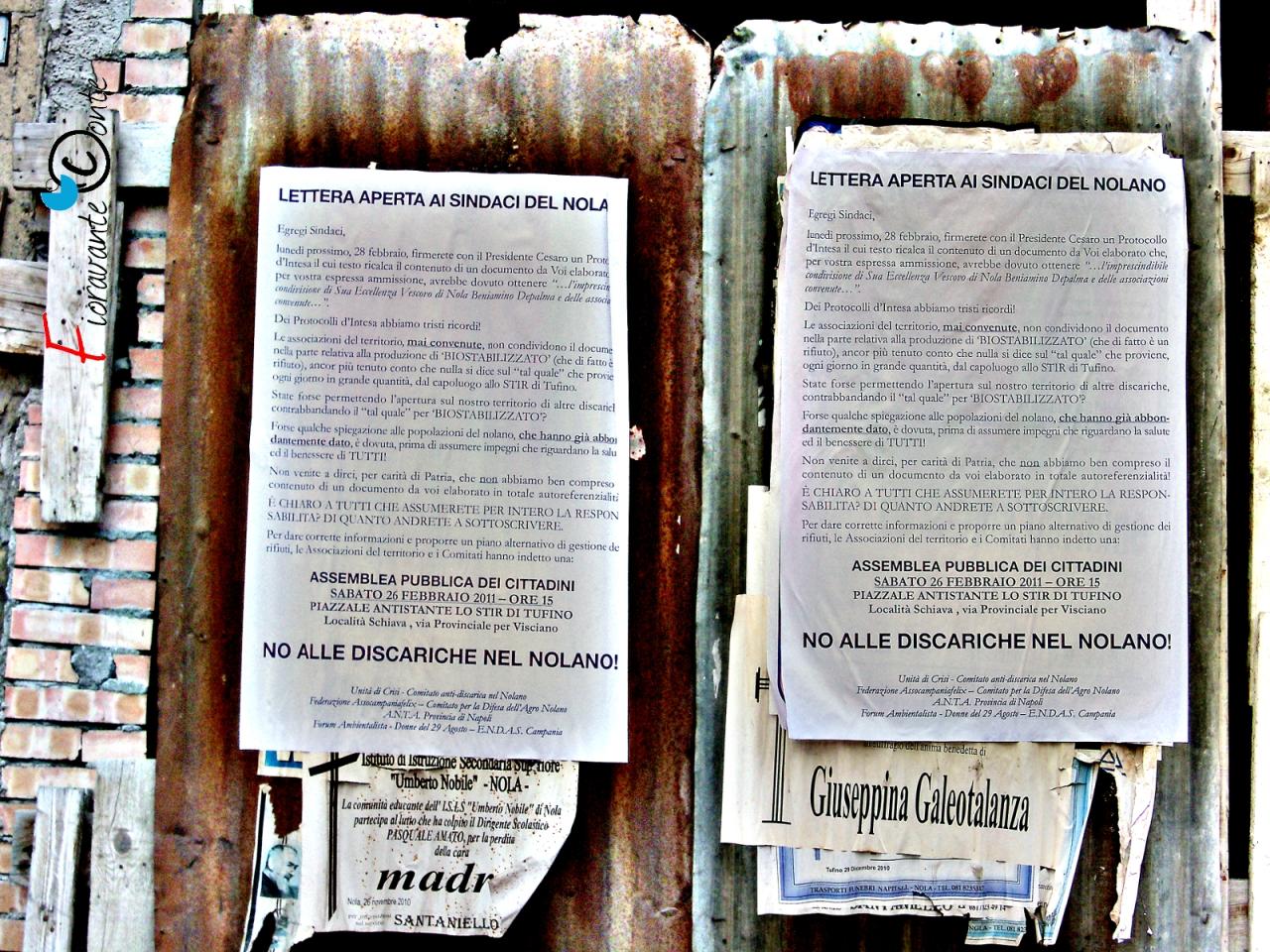 Assemblea pubblica No discarica nel Nolano